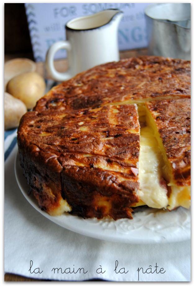 gâteau de raclette au bacon