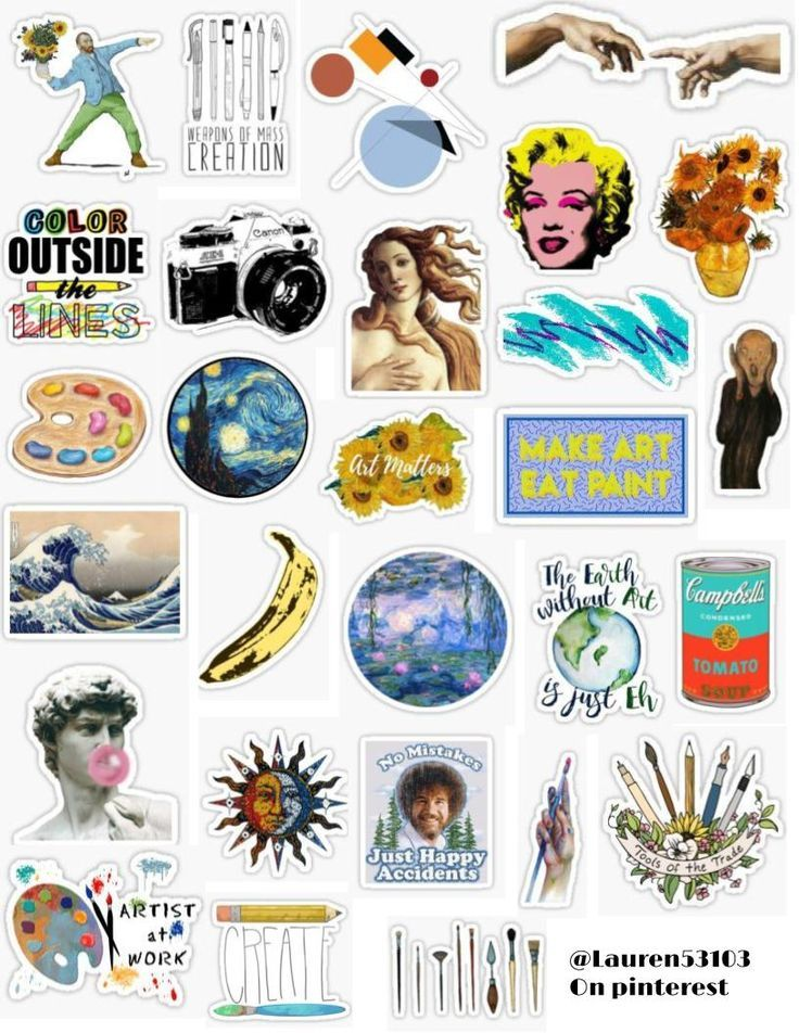 Art Sticker Pack – room inspiration – #Art #insp…