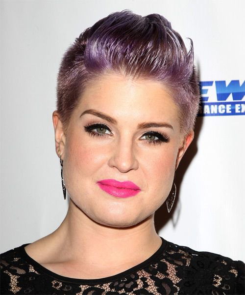 Kelly Osbourne Hairstyle - Short Straight Casual - Purple. Click to try on this hairstyle and view hair info and styling steps!