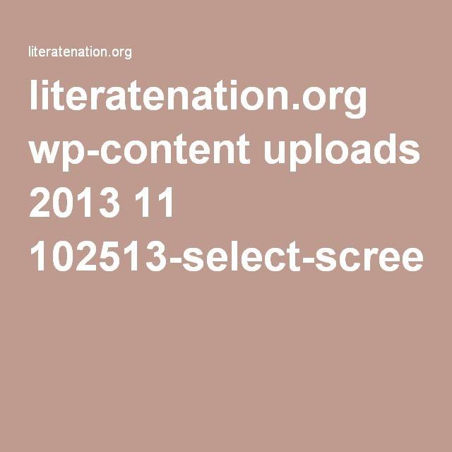 by steve dykstra  literatenation.org wp-content uploads 2013 11 102513-select-screening-ebsprd.pdf