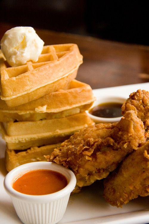 Chicken & Waffles! on Pinterest   Chicken and waffles, Fried chicken ...