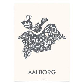 Plakat over Aalborg - Kortkartellet - Til Andreas