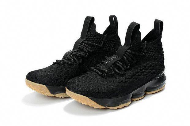 2018 Real Nike LeBron James 15 XV Black Gum 897648-300 Brand sneaker   mensbasketball 379b5e75a