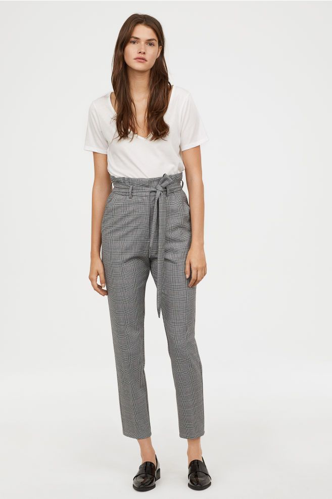 83395c0a7b29 Paper-bag Pants in 2019 | shopping list | Paperbag pants, Pants, H&m ...