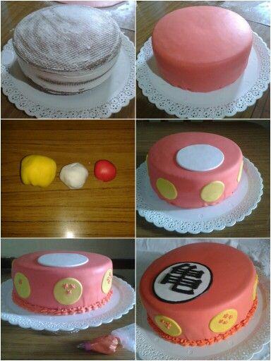 Dragon Ball cake - step by step