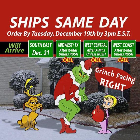 NO WAITING !!! Item is ready to ship !!! The Shipping Dates Shown by Etsy are estimated dates, your item will actually arrive quicker than that. Item will be shipped the same day, if we receive your order before 3PM E.S.T. Monday thru Friday Enhance your Yards Christmas Spirit ! -