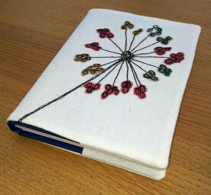 A cute little Allium seed head on an A6 book