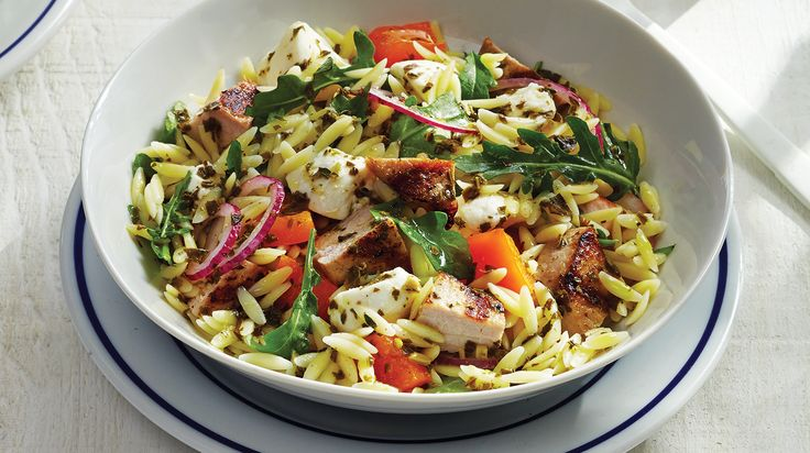 Looking for a healthy and filling salad recipe? Then try our refreshing and delicious Grilled Pork & Pesto Orzo Salad recipe. Ready in just 30 minutes, get this recipe from Sobeys.