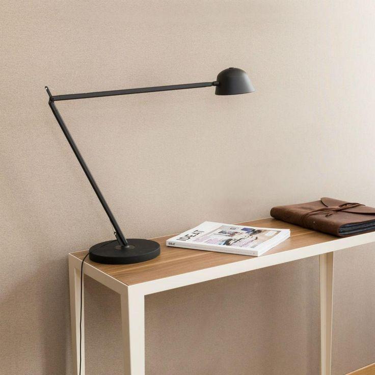 BAIA - Lampe de bureau LED articulée Noir/Rouge H70cm Kos Lighting