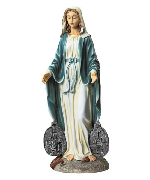 Design Toscano Miraculous Medal Madonna Sacred Garden Statue - Garden Statues at Hayneedle