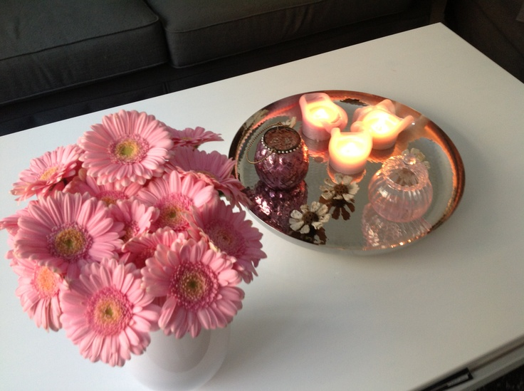 Pink, flower, candle, sweet, home decor from my own home