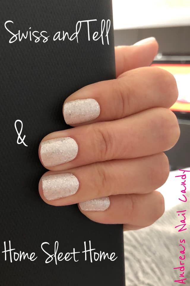This Icey White And Glitter Manicure Is Color Street Swiss And Tell White Nails And Home Sleet