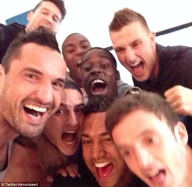 City selfie when they found out they were promoted.