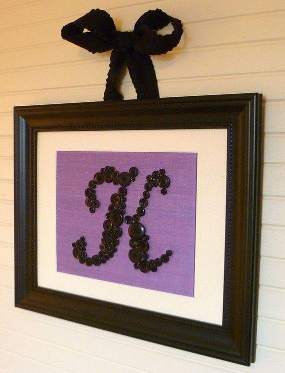 Baby Nursery Button Monogram on Lavender by letterperfectdesigns, $60.00