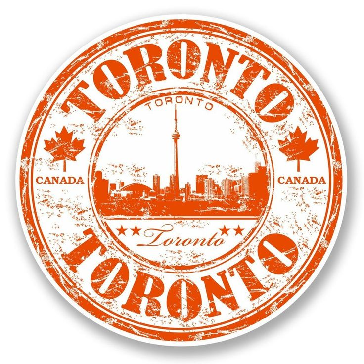 2 x Toronto Canada Vinyl Sticker #5828