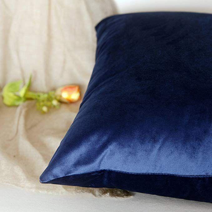 Amazon Com Set Of 2 Artcest Cozy Solid Velvet Throw Pillow Case Decorative Couch Cushion Cover Soft Sofa Couch Cushion Covers Soft Sofa Velvet Throw Pillows
