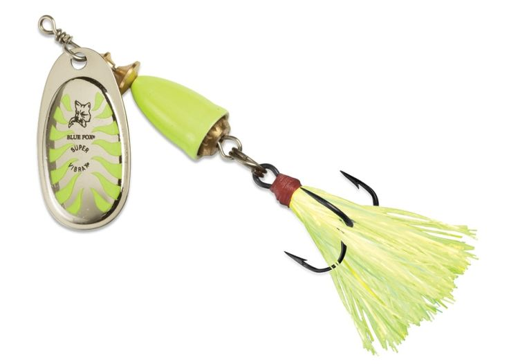 Blue fox vibrax glow spinner reel fish stories you 39 ll for Blue fox fishing lures