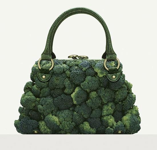 Broccoli. that-s-a-purseHandbags, Green, Fulvio Bonavia, Fashion Accessories, Foodart, Food Art, Design, Purses, Broccoli Bags