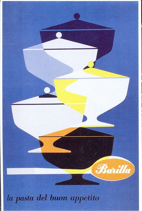 postcard - adv - pasta - 1952