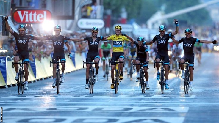 Chris Froom and Team Sky teammates