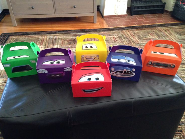 Disney Cars Goody Boxes for my son Dylan's 2nd Birthday Party