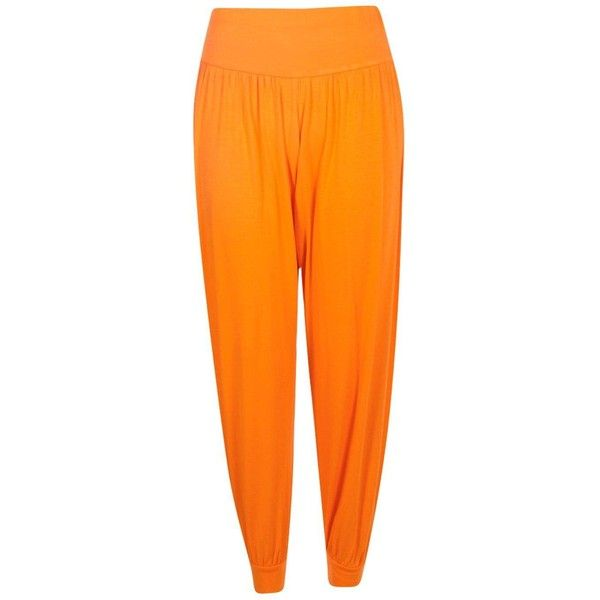 Boohoo Lena Basic Jersey Hareem Trousers | Boohoo (£7.99) ❤ liked on Polyvore featuring pants, jersey pants, wide leg palazzo trousers, tailored pants, jersey palazzo pants and tapered pants