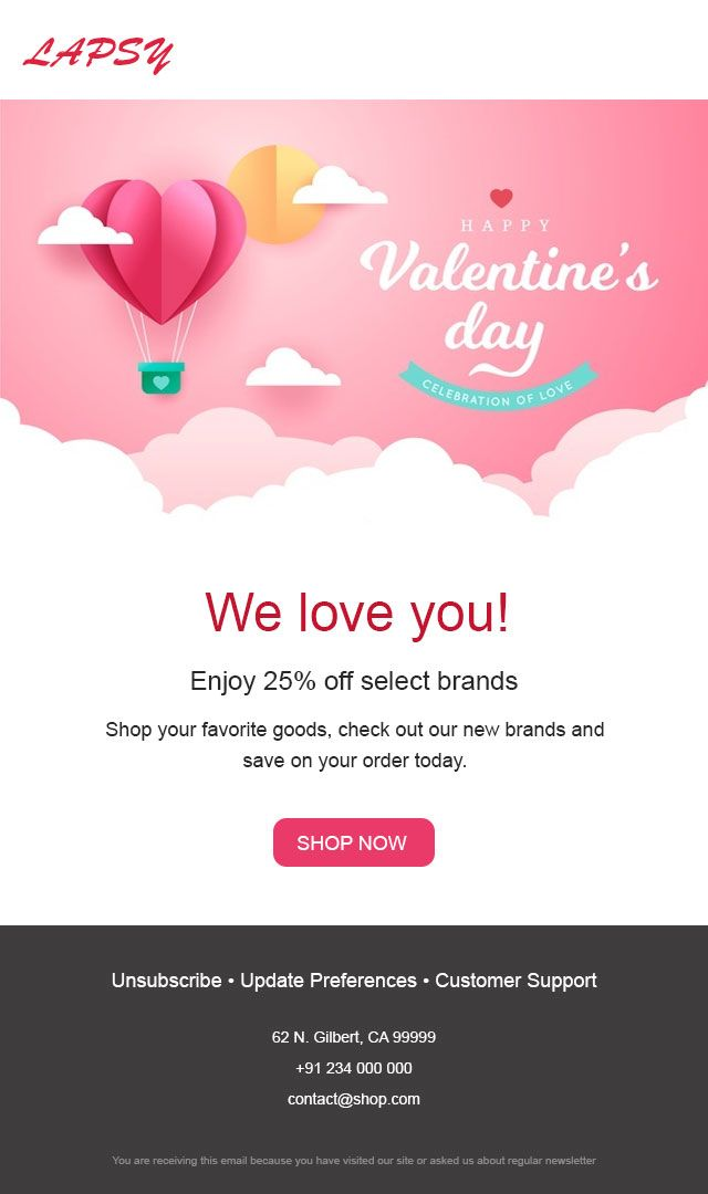 Pin On Valentine S Day Email Templates