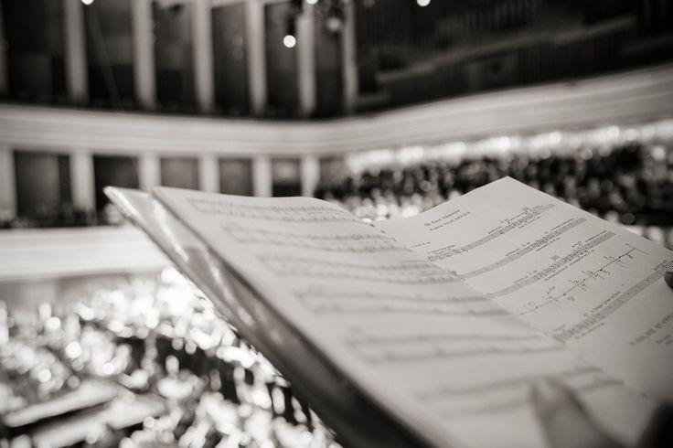 Notes of Carl Orff's masterpiece. © Posztós János #CarminaBurana #BudapestChoirFestival #bw