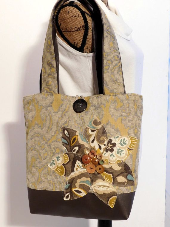 Gele handtas voor vrouwen Floral handtas Designer Tote tas