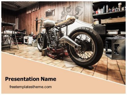34 best free automotive powerpoint ppt templates images on pinterest download free classic motorbike garage powerpoint template for your toneelgroepblik Gallery