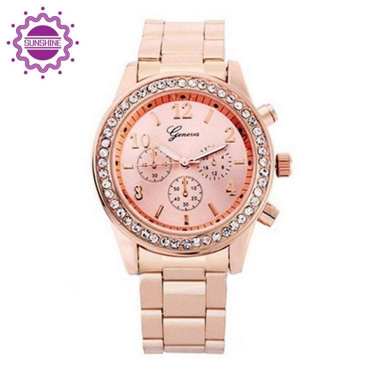 Fashion Brand Rose Gold Ladies Wristwatches Gift For Girl Full Stainless Steel Luxury Rhinestone Quartz Watch relojes mujer 2015  Price US $3.36  USD