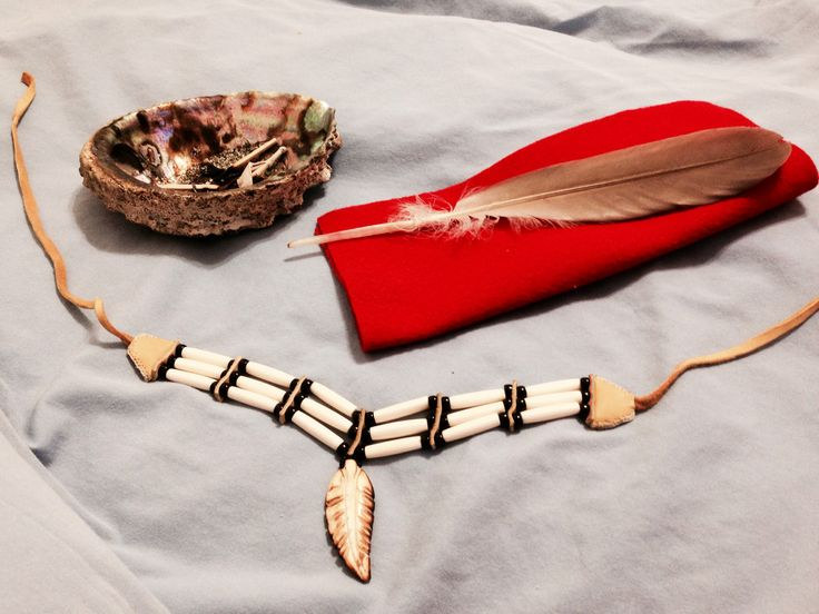 My beautiful bone choker and eagle feather that I received from my partner, I absolutely cherish these.  My smudging bowl shell was a gift from my big sister that I look up to and her traditional ways.