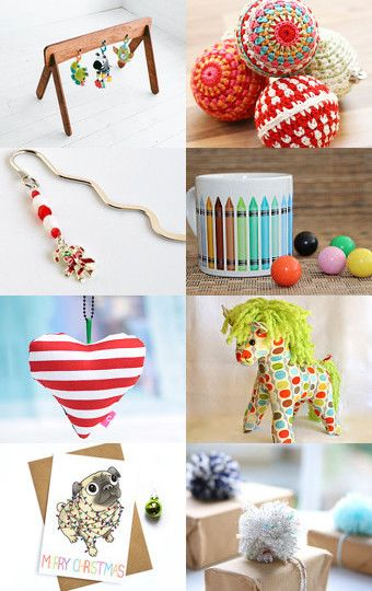 Colourful Christmas Gifts by Rachel Ward on Etsy--Pinned with TreasuryPin.com