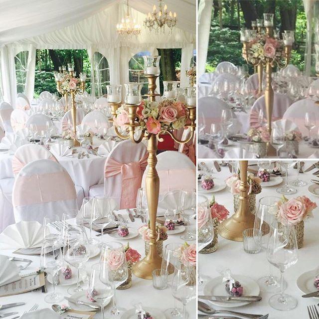 Rosa Kerzenstnder Rosen Unserer Dekoration Hochzeitsdeko Altrosa Hochzeit Blumen