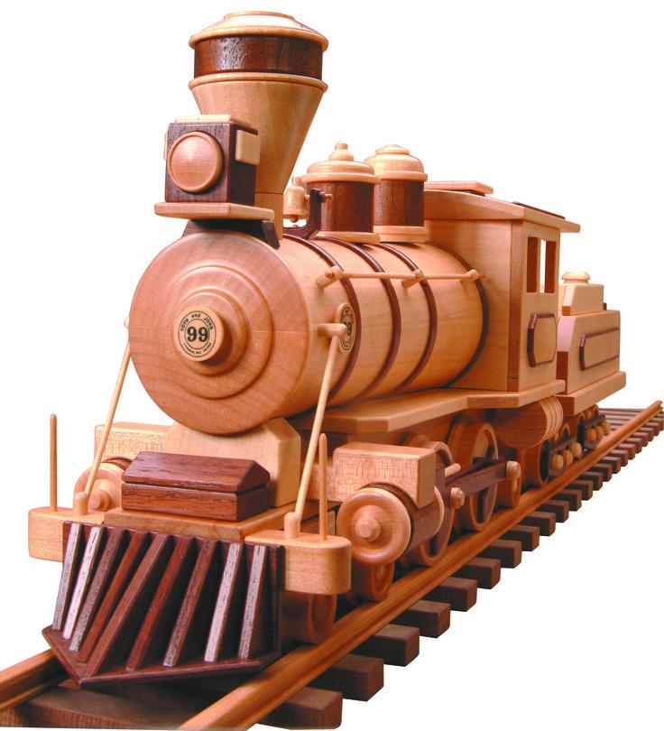 PATTERNS & KITS :: Trains :: 99 - Locomotive & Tender (Wood Burner) -