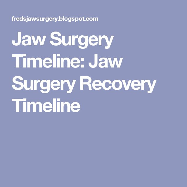 Jaw Surgery Timeline: Jaw Surgery Recovery Timeline