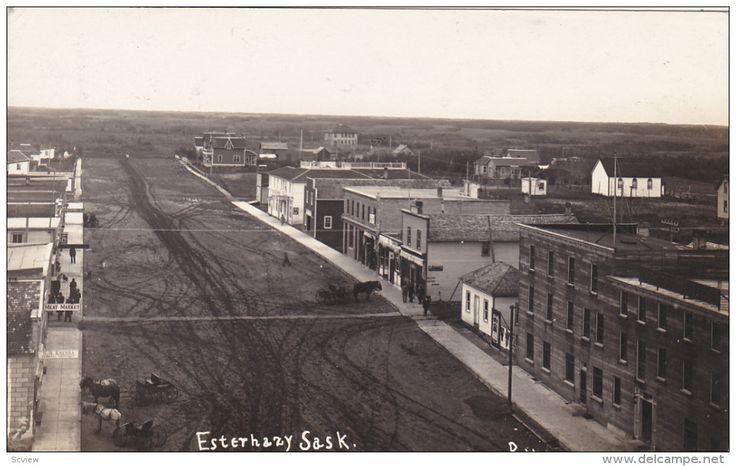 RP: Main Street (Dirt) , ESTERHAZY , Saskatchewan , Canada , PU-1912 Item number: 284340452 - Delcampe.com