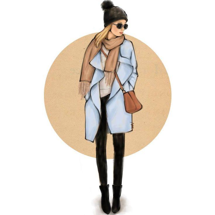 🍁 Daily sketch 🍁 #autumn  #fashionillustration #fashionsketch #fashionblog #çizim #illustration