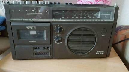 DDR Kassettenrecorder kr650 Radio in Sachsen-Anhalt - Bernburg (Saale) | Weitere Audio & Hifi Komponenten gebraucht kaufen | eBay Kleinanzeigen