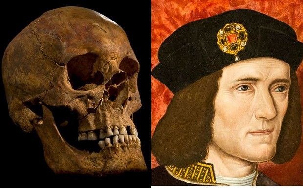 Richard III.-The body of Richard III, slain at the battle of Bosworth Field in 1485, has been found buried deep beneath a Leicester car park, scientists confirmed today.