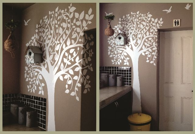 Tree in a kitchen