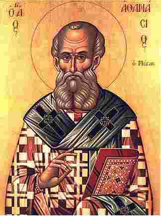 St. Athanasius of Alexandria - 4th century Bishop, Confessor of the Faith vs. Arianism, and Doctor of the Church. Feast day - 5/2. St. Athanasius, help me to follow your example in vigorously defending the divinity of Jesus Christ.