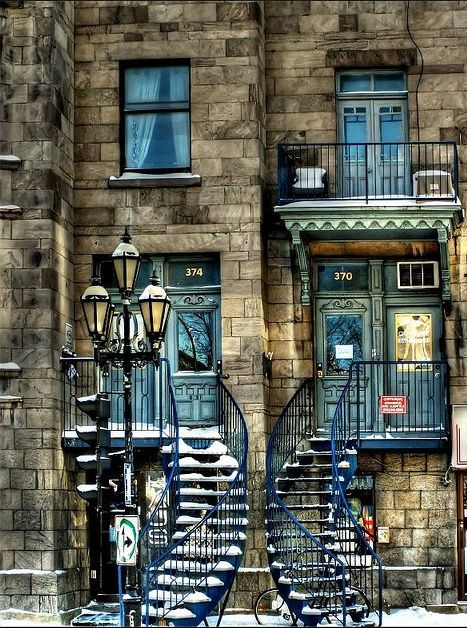 Twin Stairways, Montreal, Canada: Doors, Montreal, Favorite Places, Stairs, Canada, Travel, Architecture, Photo