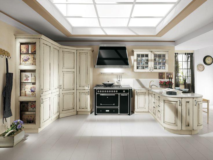 Cucina Eva Color in Stile Classico, versione bianco antico