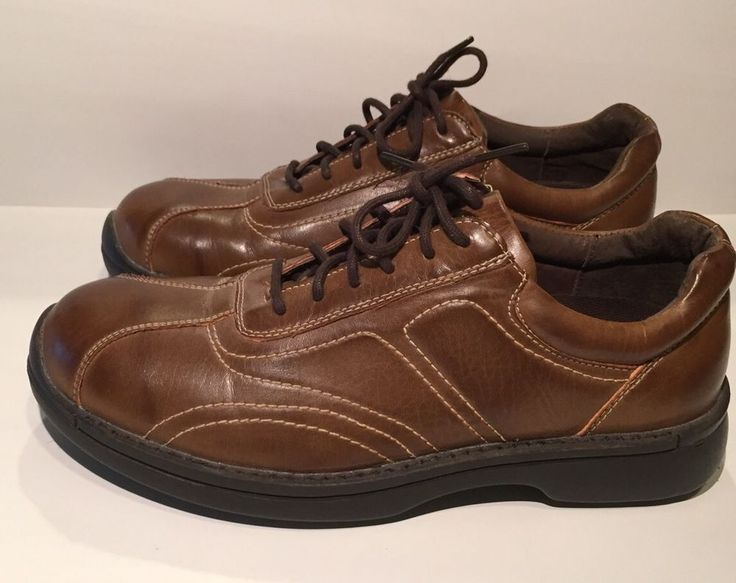 Deer Stags 902 Collection Mens Brown Leather Shoes Size 8 1/2 M #DeerStags #Oxfords