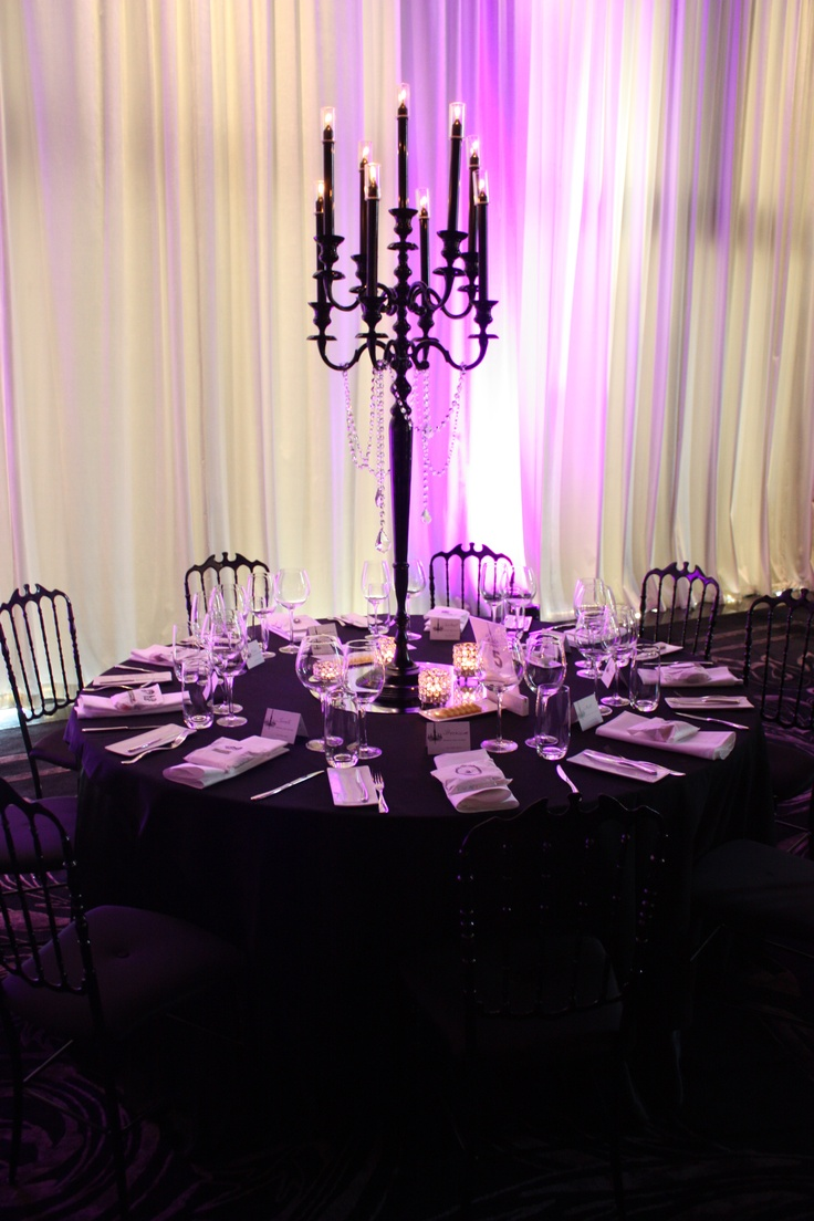 Candelabra centerpiece- simple and elegant