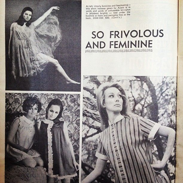 Utterly frivolous, feminine, and fascinating. The Australian Women's Weekly Dec 4, 1968 #womensweekly#vintage #retro #1960s #60s #sixties #australian_vintage_fashion