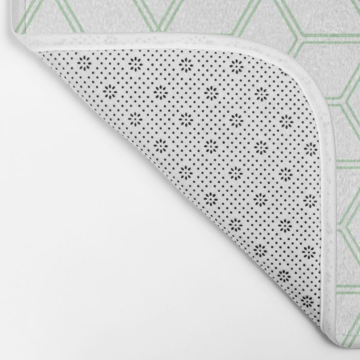 Hive Mind Mint Green 216 Bath Mat By Natural Collective Co