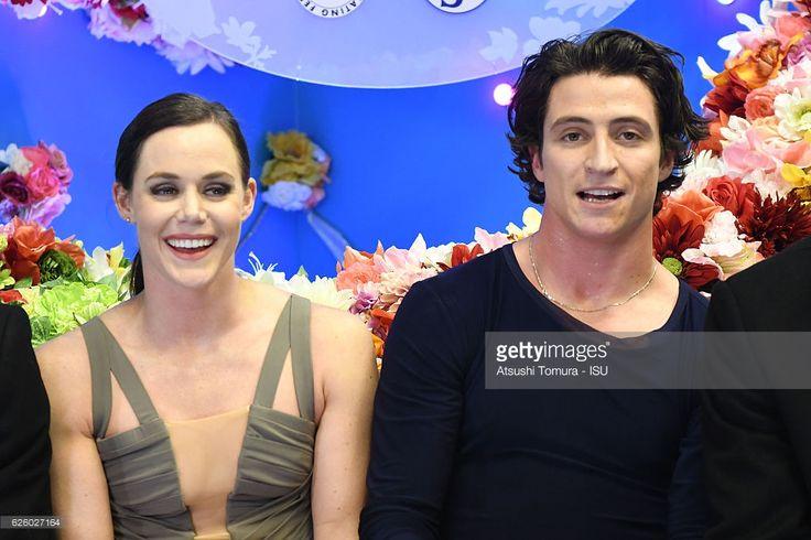 News Photo : Tessa Virtue and Scott Moir of Canada celebrate...