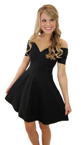 Cute, little black dress.